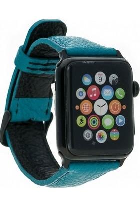 Bouletta Apple Watch Deri Saat Kordnu 42 mm - Fl10 Turkuaz