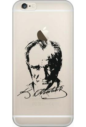 Cekuonline iPhone 6S Desenli Esnek Silikon Telefon Kapak Kılıf - Atatürk