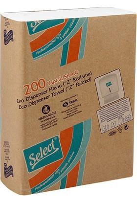 Select Smart Z Katlama Dispenser Havlu 200 Yaprak 12 Paket
