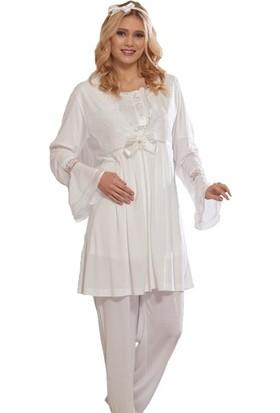 Emose 3910 Lohusa-Hamile KısaKol 3 lü Pijama Takım
