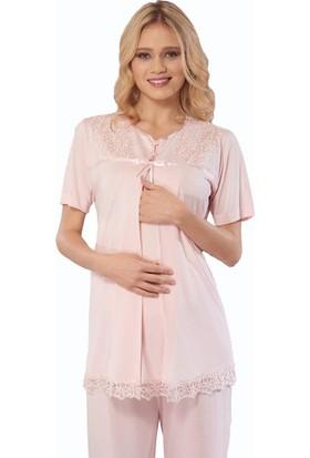 Emose 3916 Lohusa-Hamile KısaKol 3 lü Pijama Takım