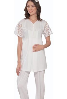 Emose 3952 Lohusa-Hamile KısaKol Pijama Takım