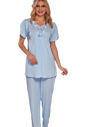 Emose 3968 Lohusa-Hamile KısaKol Pijama Takım