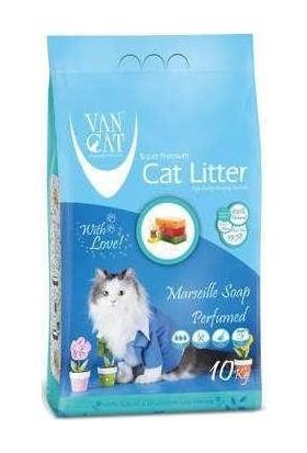 Vancat Marsılya Sabunlu Bentonit Kedi Kumu Kalın Taneli 10 Kg