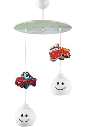 Sarper Dizayn Sarper Çocuk Odası Araba 2 Li Sarkıt Avize