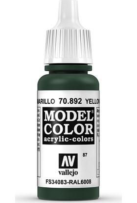 Vallejo Modelcolor 17Ml 087-892 Yellow Olıve