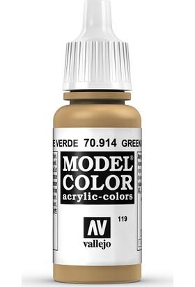 Vallejo Modelcolor 17Ml 119-914 Green Ochre