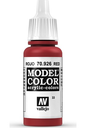Vallejo Modelcolor 17Ml 033-926 Red