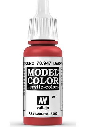 Vallejo Modelcolor 17Ml 029-947 Dark Vermıllıon