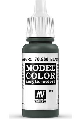 Vallejo Modelcolor 17Ml 100-980 Black Green