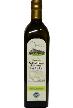 Dunolia Organik Natürel Sızma Zeytinyağı 750 ml Soğuk Sıkım