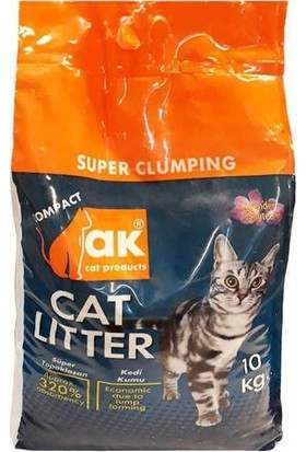 Akkum Topaklaşan Kedi Kumu Lavanta Kalın Taneli 10 kg (2 Paket)