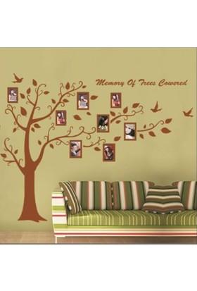 Crystal Kids Kahverengi Resim Çerçeveli Ağaç Ev Dekorasyonu Duvar Dekoru Sticker