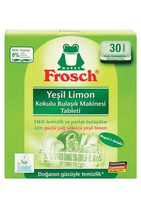 Frosch Yeşil Limon Kokulu Bulaşık Makinesi Tableti 30 yıkama