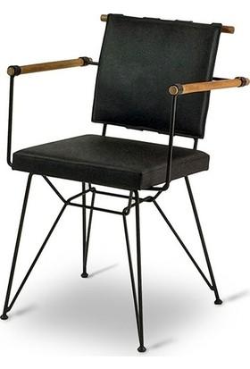 Hs Ahşap Kollu Penyez Tel Sandalye