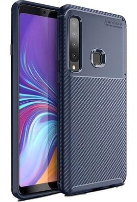 Teleplus Samsung Galaxy A9 2018 Ultra Koruma Negro Silikonlu Kılıf Lacivert + Nano Ekran Koruyucu