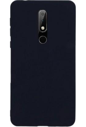 Teleplus Nokia 7.1 Lüks Silikon Kılıf Siyah