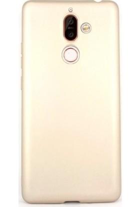 Teleplus Nokia 7 Plus Lüks Silikon Kılıf Gold