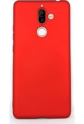 Teleplus Nokia 7 Plus Lüks Silikon Kılıf Kırmızı