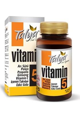 Talya Vitamin 5 - Arı Sütü, Polen, Propolis, Ginseng, Vitamin C, İçeren Takviye Edici Gıda