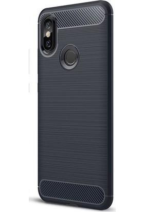 Kılıfist Xiaomi Mi A2 Lite Kılıf Room Antişok Karbon Silikon Kapak Kılıf + Temperli Cam
