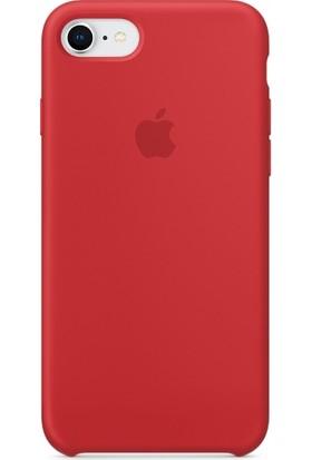 Graytiger Apple iPhone 7 Plus Kırmızı Silikon Kılıf Kauçuk Arka Kapak