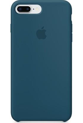 Graytiger Apple iPhone 7 Plus Kozmoz Mavisi Silikon Kılıf Kauçuk Arka Kapak