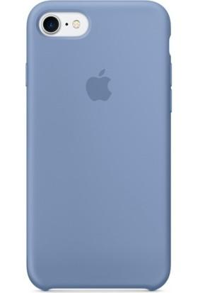 Graytiger Apple iPhone 8 Plus Gök Mavisi Silikon Kılıf Kauçuk Arka Kapak