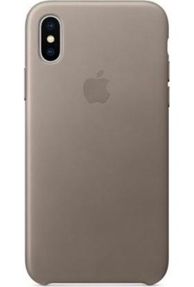 Graytiger Apple iPhone X Bej Silikon Kılıf Kauçuk Arka Kapak