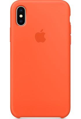 Graytiger Apple iPhone X Turuncu Silikon Kılıf Kauçuk Arka Kapak