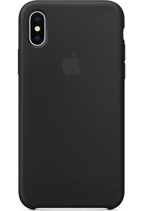 Graytiger Apple iPhone X Siyah Silikon Kılıf Kauçuk Arka Kapak