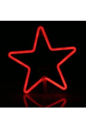 Foblight Led Yıldız Kırmızı 60 Cm Dış Mekan