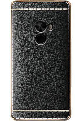 Microcase Xiaomi Mi Mix 2 Leather TPU Serisi Deri Silikon Kılıf