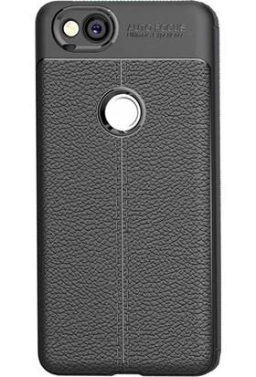 Microcase Google Pixel 2 XL Leather Effect TPU Silikon Kılıf