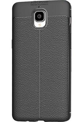 Microcase OnePlus 3 Leather Effect TPU Silikon Kılıf
