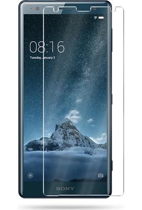 Microcase Sony Xperia XZ2 Tempered Glass Cam Ekran Koruma