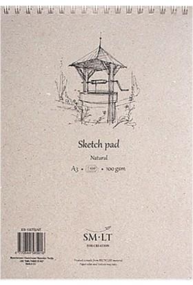 Sm.Lt Sketch Pads Authentic Natural A5 70Yp 100Gr
