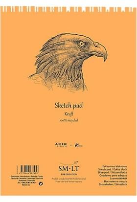 Sm.Lt Sketch Pads Authentic Kraft A4 60Yp 90Gr