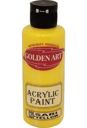 Golden Art Akrilik Boya 130ml - 020 Sarı