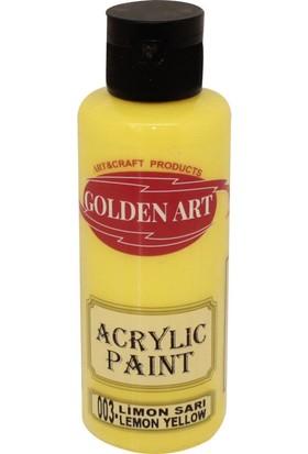 Golden Art Akrilik Boya 130ml - 003 Limon Sarısı