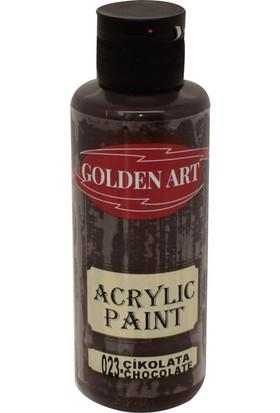 Golden Art Akrilik Boya 130ml - 023 Çikolata