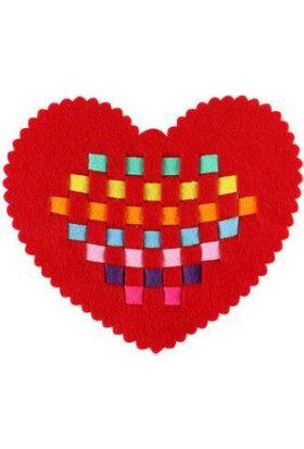Piramigo Keçe Aktivite Beceri Gelişim Etkinliği Oyunu - Kalp