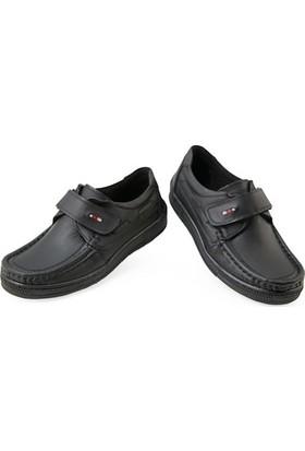 Kaptan Junior Ortopedik Erkek Çocuk Okul Ayakkabısı Ftre 222 Siyah