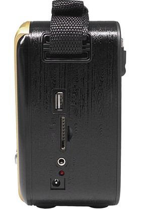 Mikado Mdr - 8Bt Serenad K Usb - Tf Destekli Bluetooth Fm - Am*Sw 3 Band Klasik Nostalji Radyo Gold