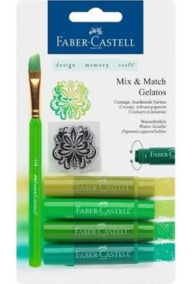 Faber-Castell Gelato Mum Boya Yeşil Tonları 4 renk