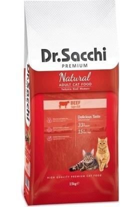 Dr.Sacchi Premium Beef Kedi Maması 15 Kg