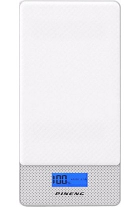 Pineng PN-993 10000mAh Hızlı Sarj QC 3.0 Type-C iPhone İçin Dönüştürücü Beyaz Powerbank