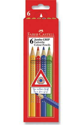 Faber-Castell Jumbo Grip Boya Kalemi 6 Renk
