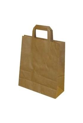 Mi̇rtem Kağıt Saplı Kraft Çanta 22 x 30 x 12 cm 100 Adet