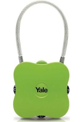 Yale Yuvarlak Köşeli Asma Kilit - Yeşil Blister